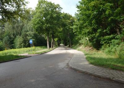 ul Młynowa droga do centrum miasta Mrągowo
