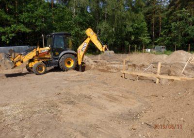 rozpoczęliśmy budowę, prace budowlane bud. nr.1